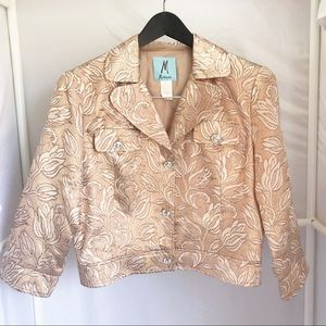 Marciano Rose Gold Cropped Jacket Sz L